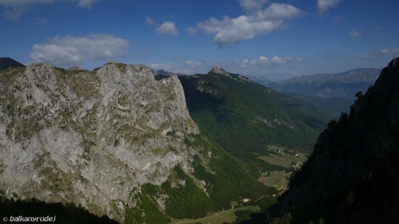 Dolina Grbaje w dole
