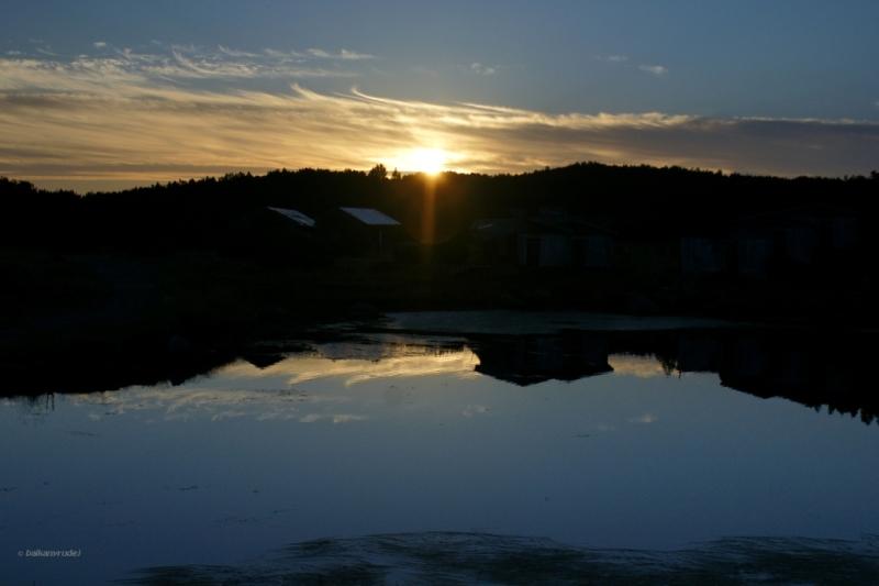 Zachód słońca widziane z Grynczaru