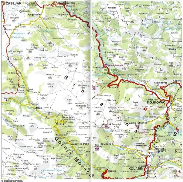 mapa Sinjavina