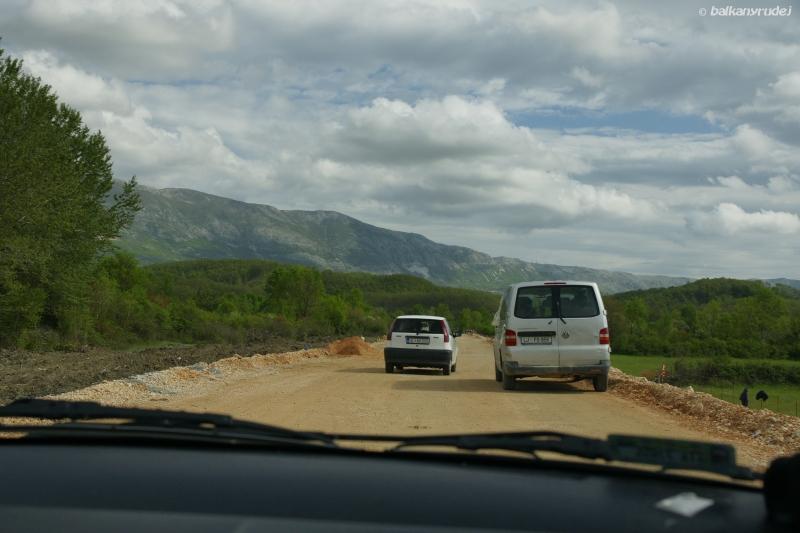 droga do czarnogórsko - albańskiej granicy