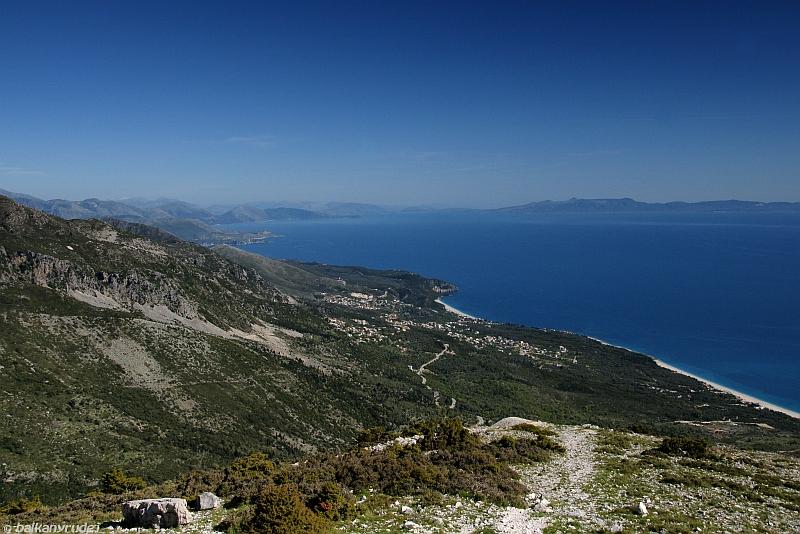 widok z przełęczy Llogarase