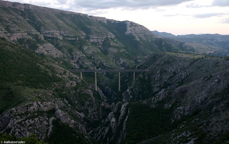 wiadukt kolejowy Czarnogóra